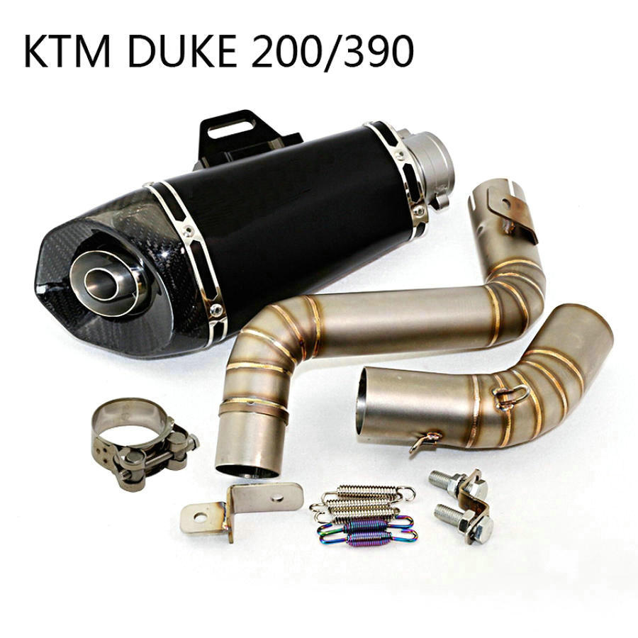 Motorcycle Exhaust Pipe Muffler Modified Motorbike Exhaust KTM DUKE 200 390 Akrapovic Exhaust Muffler KTM Exhaust Pipe motorcycle accessories motorbike muffler stainless steel exhaust pipe for ktm 690 smc 2008 2009 2010 2011 ducati 899 panigale