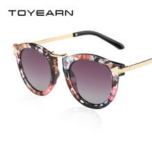 3540284b46 TOYEARN Fashion Vintage Women Round Sunglasses Brand Designer Mirror Shades  Retro Arrow Frame Sun Glasses Female
