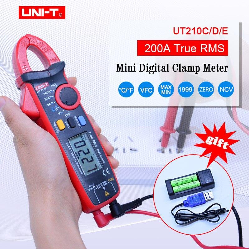 UNI T UT210C D E Mini DC Clamp Meters true rms clamp meter multimeter 200A 2000counts