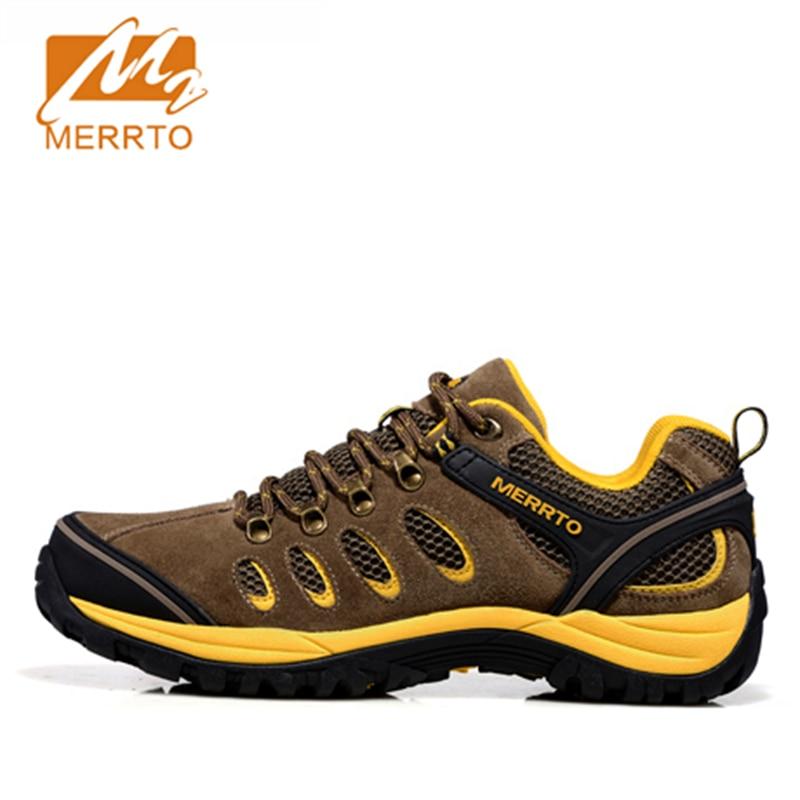 ФОТО 2017 Merrto Men Walking Shoes Suede Leather Breathable Outdoor Shoes Suede leather For Men Free Shipping MT18358