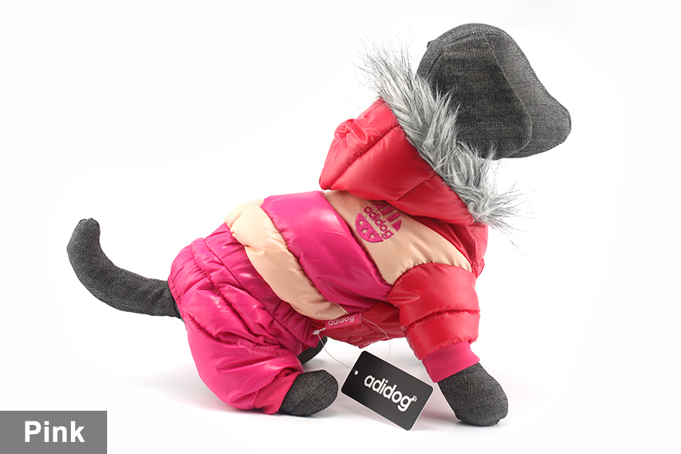 adidog New Winter Pet dog Clothes for Small Medium Dog Pet clothing Coat hoodies Waterproof Super Warm Jacket Snow chihuahua for Winter 405