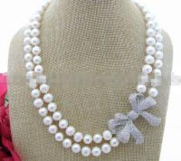 beautiful 9 10 MM White Pearl Necklace Pendant
