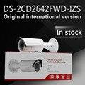 Em estoque frete grátis versão em inglês Câmera Da Bala DS-2CD2642FWD-IZS, 4MP WDR Vari-focal-focal da Câmera do IP Da Rede