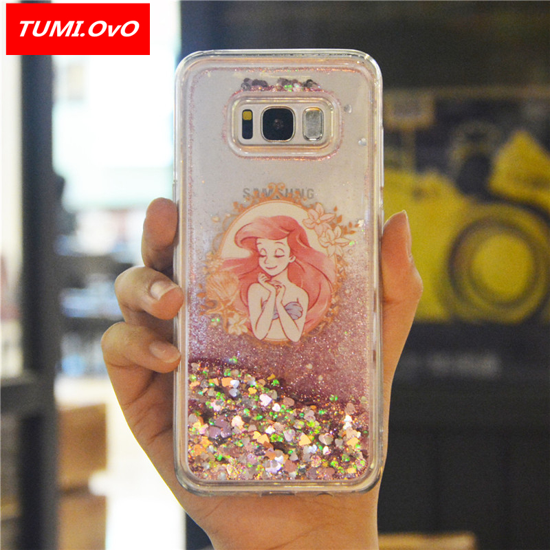 Cartoon Girl Dynamic Liquid Bling Star Quicksand Soft Case for Samsung Galaxy J1 J3 J5 J7 A3 A5 2016 2017 S5 S6 S7 Edge S8 Plus