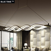 Wave design Chandelier for dinning room Black White chandelier lights modern chandelier led lighting AC 85 260V 100CM 120CM