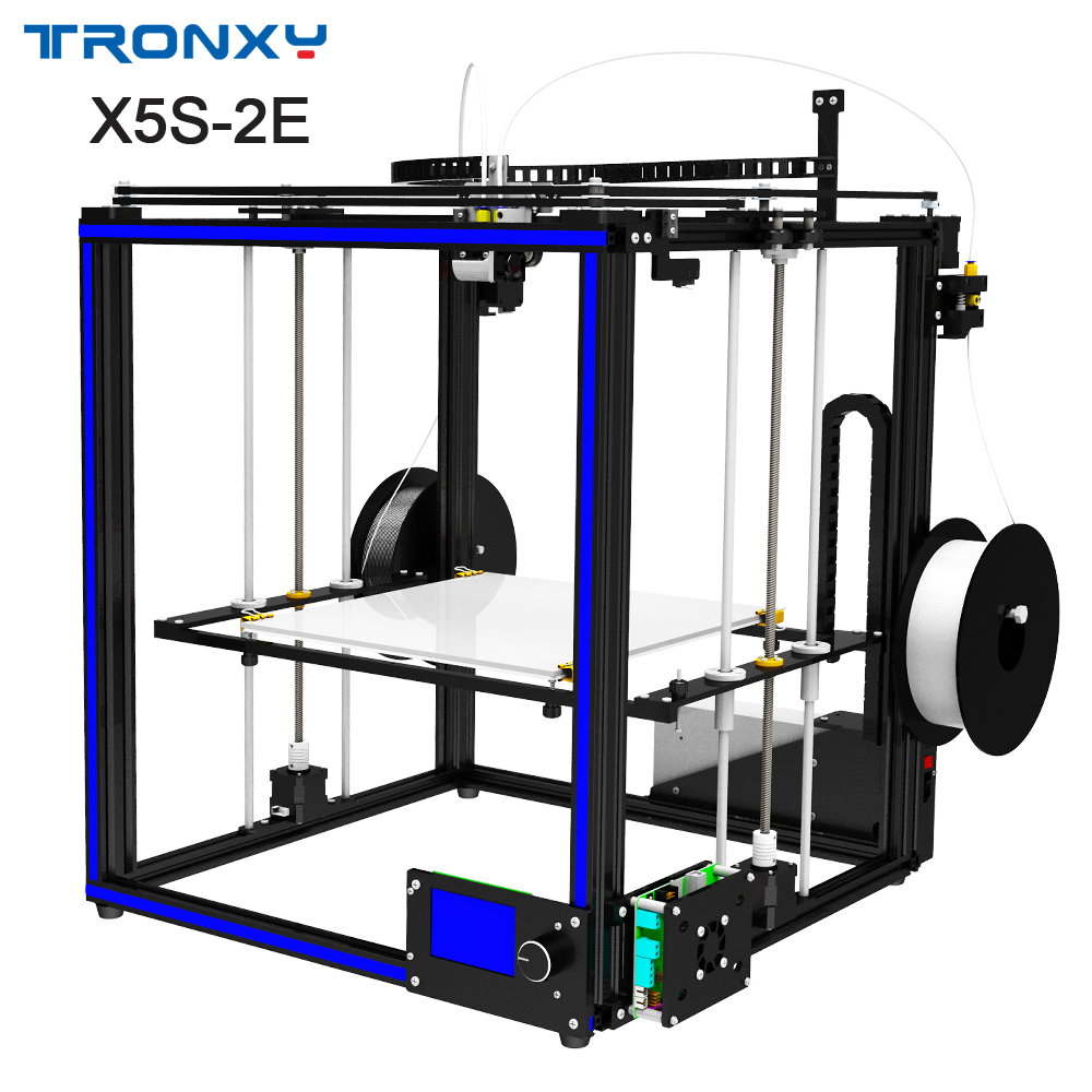 TRONXY Date 3D imprimante X5S-2E diy machine d'impression Double Extrudeuse imprimante multicolore