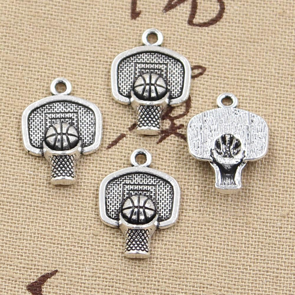 20pcs Charms Basketball Hoop 20x15mm Antique Silver Color Plated Pendants Making DIY Handmade Tibetan Silver Color Jewelry