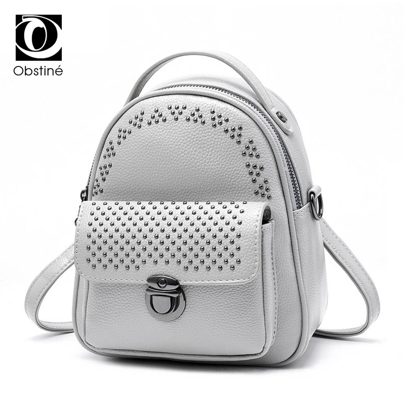 758601366ad9 Detail Feedback Questions about Summer Mini Rivets Backpack for Women Youth Backpack  Female Small Back Bag for Woman Fashion Gray Daypack for Teenage Girls ...