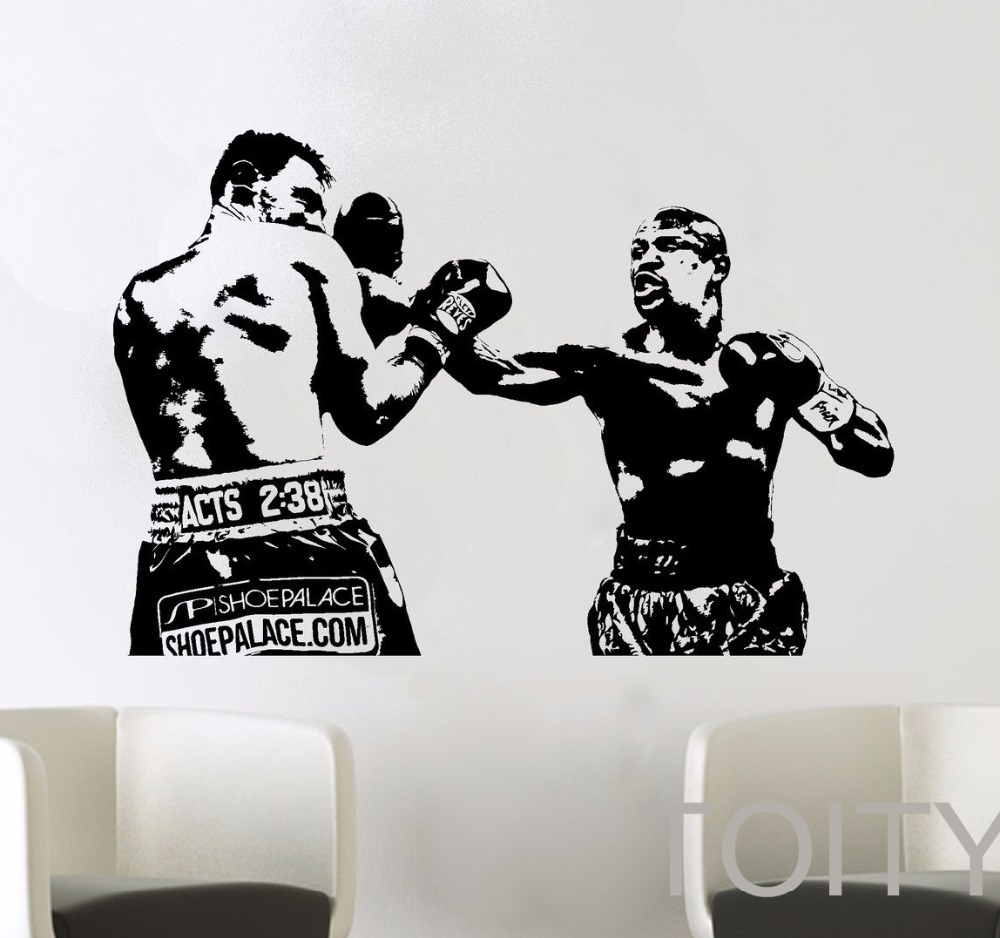bedroom stencils promotion shop for promotional bedroom stencils mma fight boxing graphic evander holyfield wall vinyl sticker decal decor school dorm living room bedroom home mural stencil
