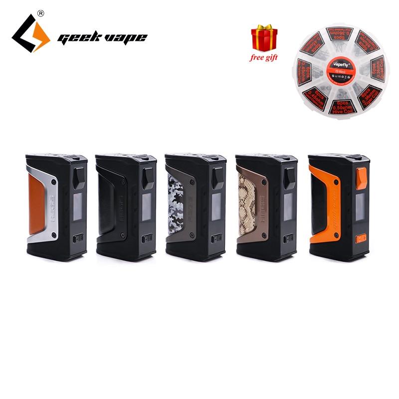 Livraison cadeau GeekVape L'égide mod l'égide Légende 200 W TC Boîte MOD Alimenté par Double 18650 batteries e cig Pas de Batterie pour zeus rta blitzen