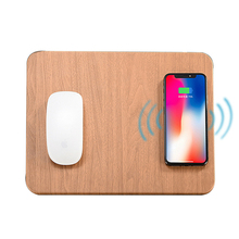 лучшая цена 10W Fast Wireless Charging Charger Mouse Pad Mat Leather Induction Charger Mousepad