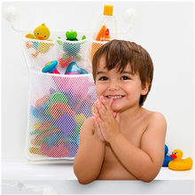 Baby Bathroom Mesh Bag for Bath Toys Children Beach Toys Mesh Bag Organiser Swimming Water Toys Net Suction Cup Bag(China)