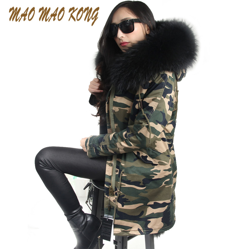 hot sale 2017 brand new big raccoon natural real fur coats for women winter jacket long winter coat women parka Thick warm liner