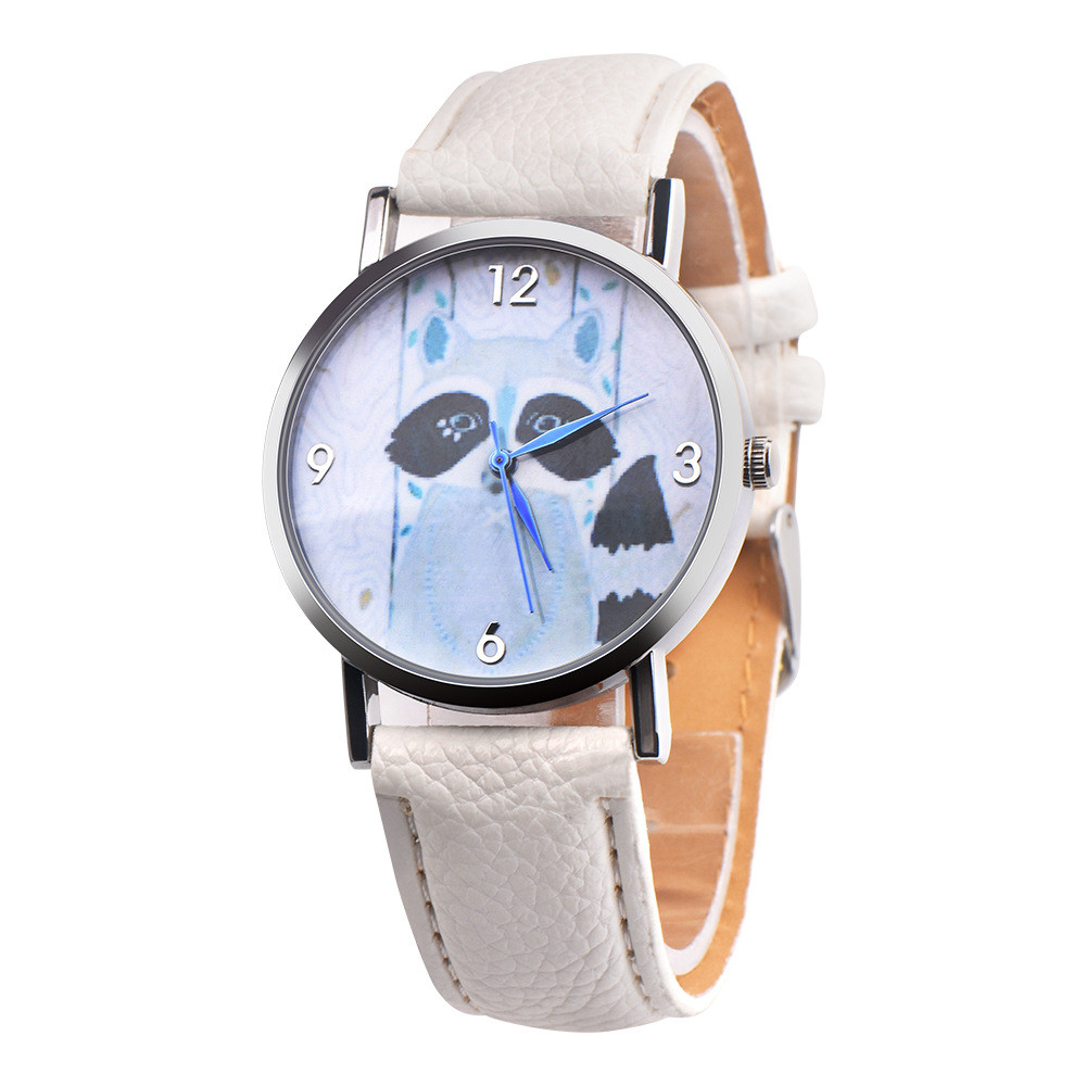 2018 Cartoon Quartz Children Civet Cats Retro Design Leather Band Watches Kid Analog Alloy Wrist Watch Relojes Present Gift #W