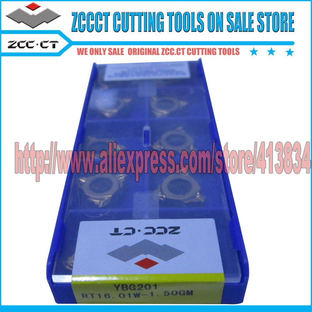 10pcs RT16 01W 1 50GM YBG201 ZCCCT Cemented Carbide CNC Threading inserts 16 ZCC External thread