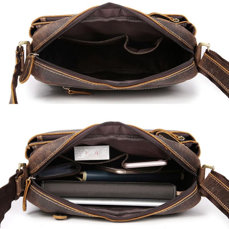 NEWEEKEND 98601-1 kulit asli vintaj gila kuda sedikit lembut zip - Beg tangan - Foto 4