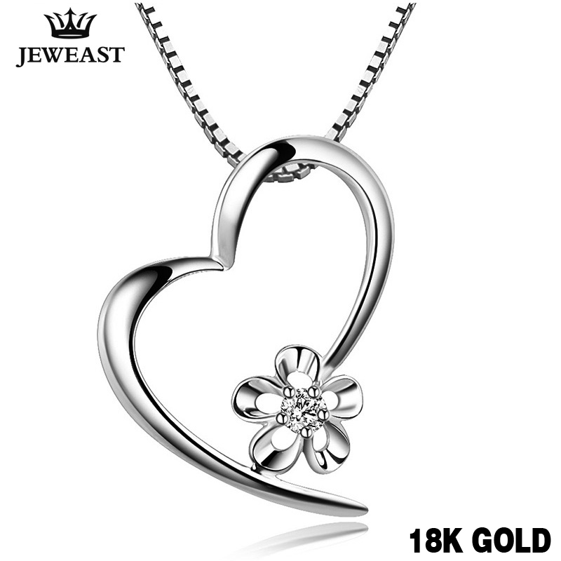 18K Gold Diamond Pendant Fashion women girl gift charm bone Simple Exquisite natural real solid good new hot sale party Custom