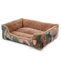 New 2017 Camouflage Kennel House Durable Bed Dog Nest Washable Warm Pet Beds Kennels For Cat