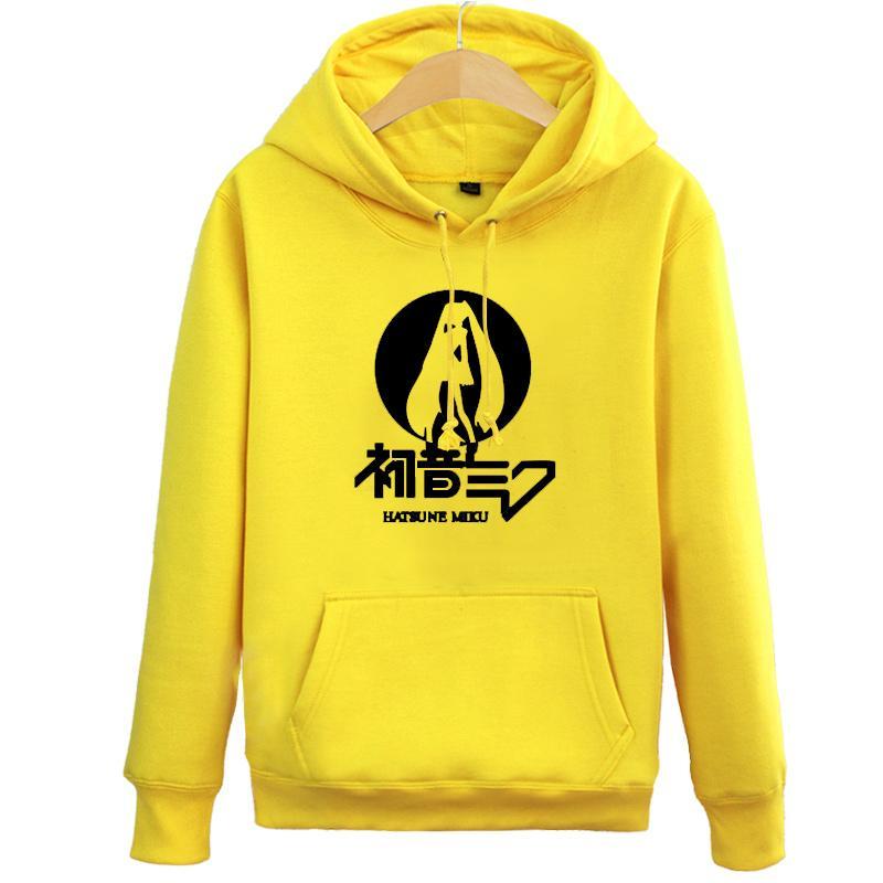 Hatsune amarillo borgoña Sudadera Top Sudaderas rojo Azul q gris Unisex Anime Capucha Miku High Con xwt6UqCwO