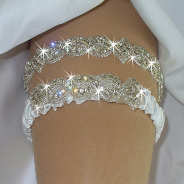 Bridal Garters Women Imported Luxury Vintage Wedding Garter Set Rhinestone Women Garter Bridal Garter  Hot Handmade Crystal