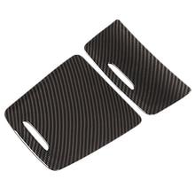 Углеродная Abs Центральная коробка для хранения панель накладка Крышка для пепельницы наклейки для автомобиля Mercedes Benz Cla Gla класс W117 W176 A180