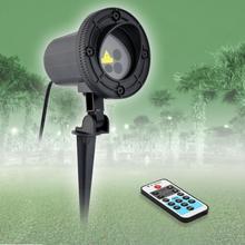 Новогодний лазерный проектор с рождественской звездой, наружное украшение для дома, красный, зеленый, лазерный, мерцающий, водонепроницаемый, IP44
