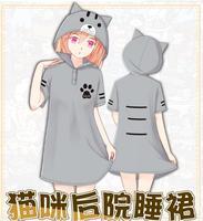 Anime Neko Atsume Hoodies Manzokusan Lông Cừu Coat Cat Sân Sau Cát Tai với Đuôi Áo Áo Khoác Dễ Thương Gái Cosplay Trang Phục