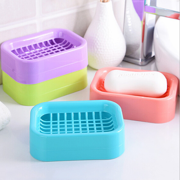 Creative Double draining soap holder Non-slip Soap dish soap box BH035