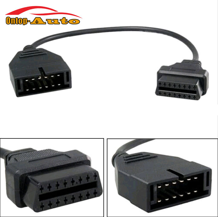 Universal Car Motor Vehicle 12 Pin to OBD1 OBD2 16 Pin Connector Cable Adaptor Diagnostic Tool