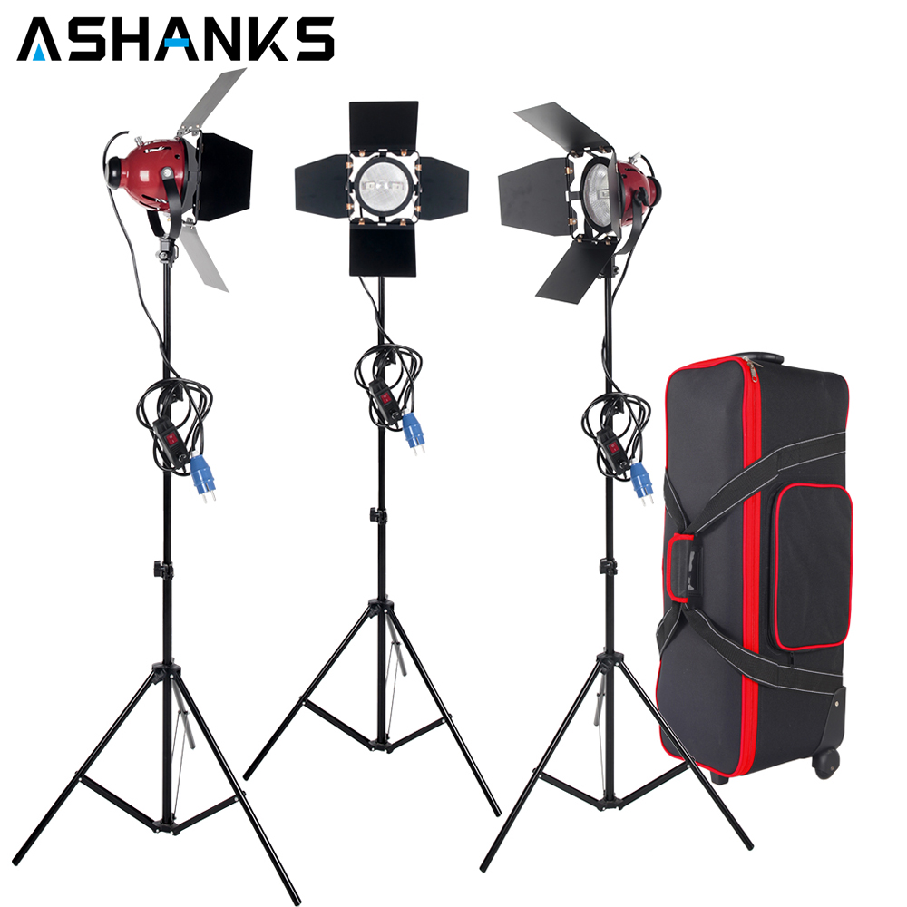 ASHANKS 3KITS 800W Dimmer Switch Studio Video Red head Light kit  +  Bulb+Carry bag For Video Film Light ashanks 800w studio video red head light with dimmer continuous lighting bulb free shipping