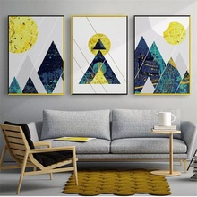 Abstract Decorative Geometric Shape Wall Art Canvas Painting Nordic Poster Pictures For Living Room Modern Decor Unframed