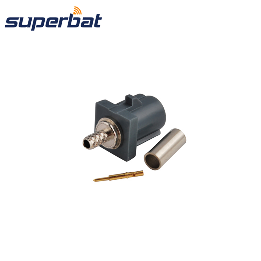 Superbat Fakra G Grey /7031 Crimp Plug Male RF Coaxial Connecntor Remote Control Keyless  For Car