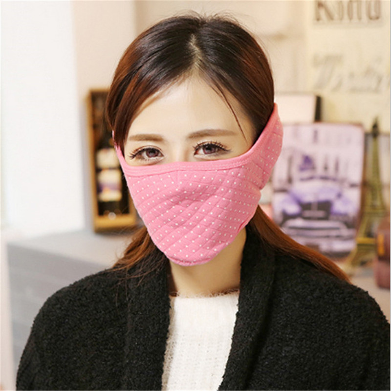 5pcs/Pack Funny Earmuffs Breathing Mask All Bandit Medical Face Ciclismo Feminino Lady Plush Masks Cloth Mouth Face Mask