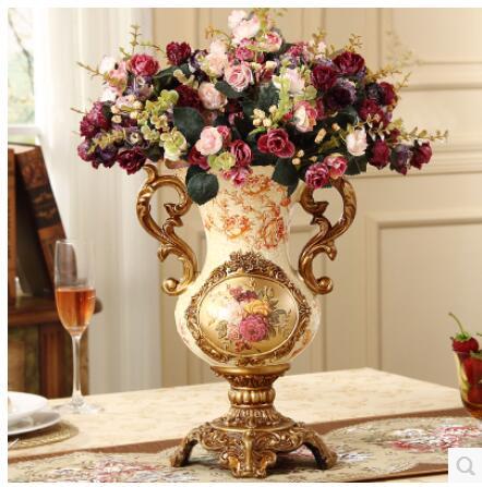 The Vintage European Porcelain Vase With The Big Vase Is The
