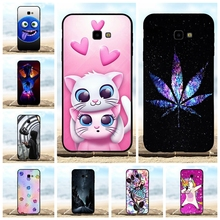 For Samsung Galaxy J4 Plus J415F J415FN Case Soft TPU Prime Cover Cat Patterned Shell