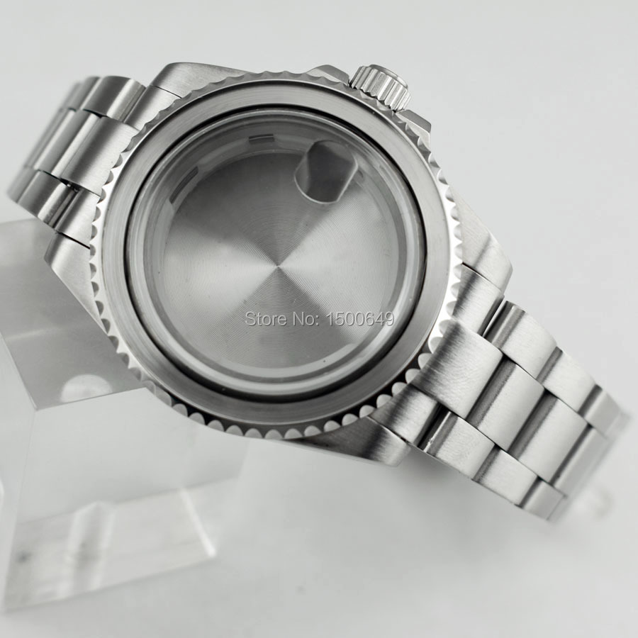 40mm Watch Accessories 1xCase+1xbezel+1xsteel Strap Fit ETA 2836,miyota 8215 Date Automatic Mechanical Movement Men's Watch