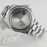 40mm Watch accessories 1xCase+1xbezel+1xsteel strap fit NH35 NH36,ETA2836,miyota8205 8215 821A,DG2813 3804 Automatic movement