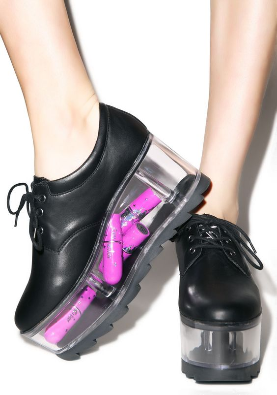 Transparent Platform Ladies Sweet Style Shoes Smooth Black/Whtie Leather Women Lace Up Casual Shoes High Platform Spring ShoesTransparent Platform Ladies Sweet Style Shoes Smooth Black/Whtie Leather Women Lace Up Casual Shoes High Platform Spring Shoes