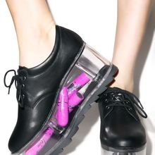 Shoes Transparent Platform Lace-Up Sweet-Style Women Ladies Black/whtie Smooth Casual
