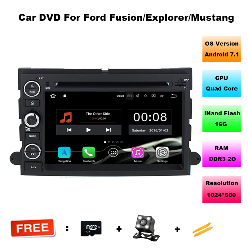 Android 7.11 Car DVD Player GPS Navigation for Ford Fusion Explorer F150 Edge Expedition Mustang with Radio BT USB Video Stereo