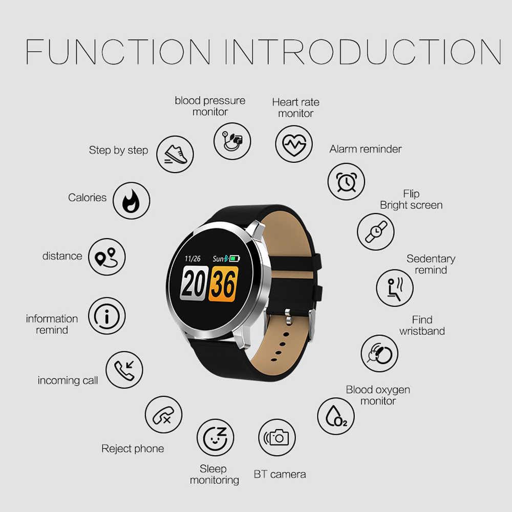 "Smartband Q8 Смарт-часы 0,95 ""OLED IP67 Водонепроницаемый монитор сердечного ритма Bluetooth Смарт-часы для Apple IOS Android телефон"