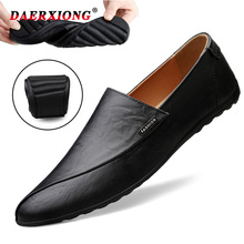 Genuine Leather Men Casual Shoes 2019 High Quality Loafers Moccasins Breathable Slip on Black Driving Shoes Mans Footwear alligator genuine leather men shoes casual breathable men loafers slip on high quality