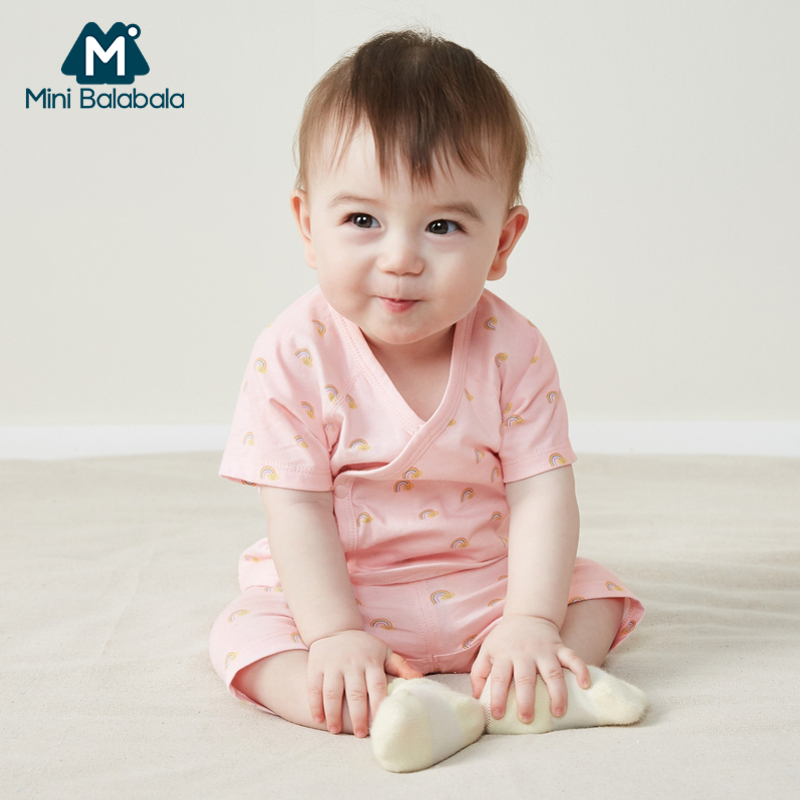 Baby Male Baby Girl Baby Cotton Cute Small Expression Two-Piece Suit