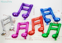 цена на 8pcs Double Note Music Style Aluminum Balloon Concert Wedding Party Decoration Balloon Festival Party Supplies
