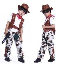Fiesta de Halloween de vaquero traje de vaquero niños y girlsme bastante vaquera  Cosplay occidental vestido ce09b885b8e