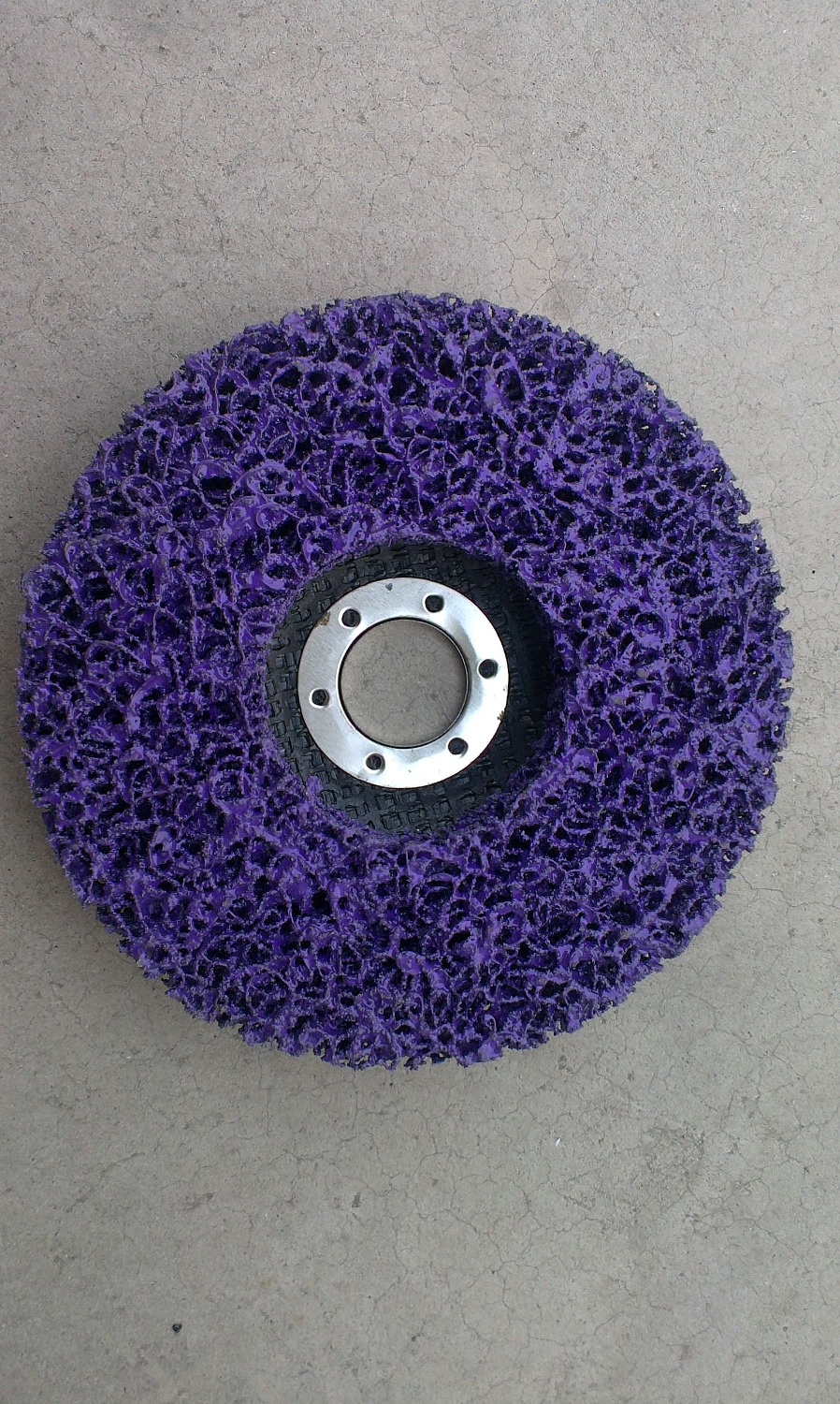 10pcs 5 125 22mm purple Clean and stripping abrasive disc with fiberglass backing paint removal disc