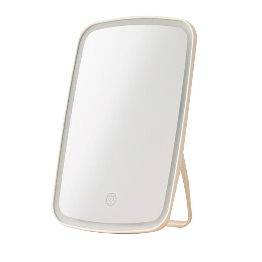 Para Xiaomi Inteligente espelho de maquiagem portátil espelho espelho de mesa dobrável com iluminação led lâmpada dormitório para mulheres dos homens de ferramentas de maquiagem