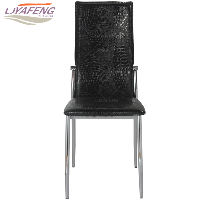 9061-8, the Artificial crocodile skin, kitchen chair and iron chair are black. According to the bar's kitchen Family furniture the silver chair