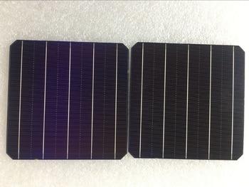100Pcs 5W 0.5V 20.6% Effciency Grade A 156 * 156MM Célula Solar Monocristalina Fotovoltaica Monocristalina 6x6 Para Painel Solar 1
