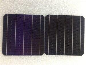 Image 2 - 100Pcs 5W 0.5V 20.6% Effciency Grade A 156 * 156MM Photovoltaic Mono Monocrystalline Silicon Solar Cell 6x6 For Solar Panel